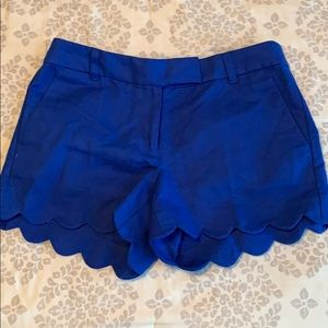 J. Crew Factory scallop shorts, size 4